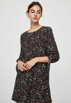 MANGO - Sleeve knotted floral print dress - multi