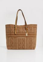 G Couture - Beaded detail bag - tan