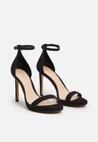 MANGO - Ankle-cuff Heels Black