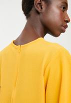 edit - Flutter sleeve blouse - yellow