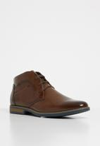 Gino Paoli - Derby lace up boots - tan
