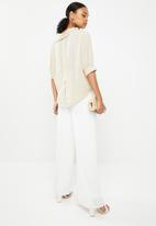 G Couture - Draped collar top - beige