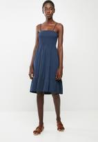 edit - Multi-wear strap dress - navy