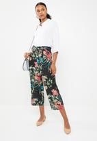 G Couture - Floral print cropped paper bag pants - multi