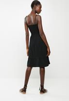 edit - Multi-wear strap dress - black