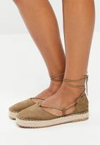 Superbalist - Sandy lace up espadrille - khaki