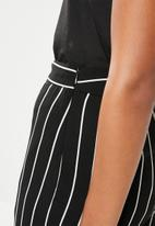 G Couture - Striped pants - black