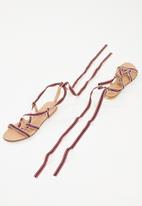 Superbalist - Stripe lace up sandal - multi