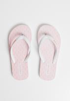 Lizzy - Odeletta flip flop - pink & white