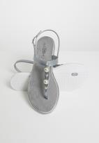 Miss Black - Marwa thong sandals - silver