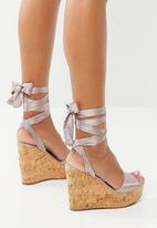 Sissy Boy - Ankle strap wedges - neutral