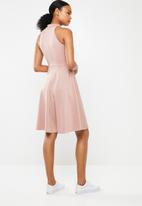 Superbalist - Hi neck midi dress - pink