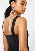 Superbalist - Square neck jumpsuit - black