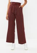 Superbalist - Wide leg paperbag pants - multi