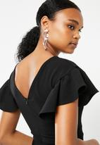 Superbalist - Flute sleeve bodycon dress - black