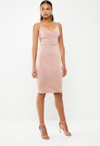 Superbalist - Column overlay dress - pink