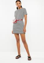 Superbalist - Stripe bodycon dress - black & white