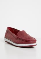 edit - Leather loafers - red