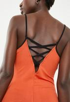 c(inch) - Strap detail maxi dress - orange