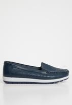 edit - Leather loafers - navy