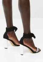 Sissy Boy - Diamante ankle tie heels - black
