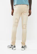 STYLE REPUBLIC - Jabu patch skinny jean - beige