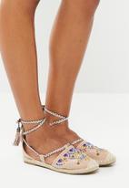 Footwork - Embellished strappy pumps - beige