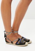 Footwork - Embellished strappy pumps - black