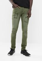 STYLE REPUBLIC - Jabu patch skinny jean - green