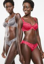 DORINA - Angie 2 pack brief - red & grey