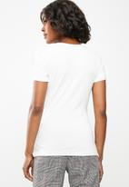 edit - Wrap over t-shirt - white