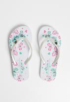 World Tribe - Mariposa flip flops - white