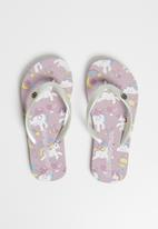World Tribe - Starlight flip flops pale - purple