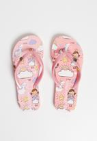 World Tribe - Fairy dust flip flops - pink