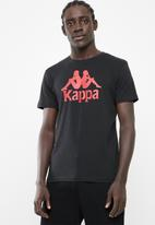 KAPPA - Authentic estessi slim tee - black & red