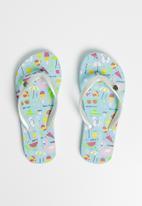 World Tribe - Beach party flip flops -  blue