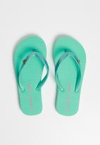 World Tribe - Little treasure flip flops - green