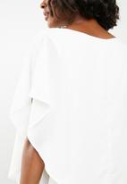 edit - Double layer blouse - white