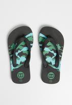 World Tribe - Trooper flip flops - black & blue
