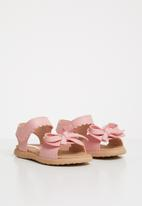 POP CANDY - Bow detailed sandal - mid pink