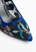Plum - Floral heels - blue