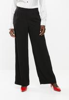edit - Wide leg pants - black