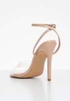 Cherry Collection - Nevada ankle strap heels - neutral