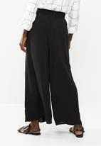 edit - Woven wide leg pants - black