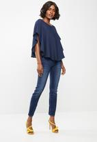 edit - Double layer blouse - navy
