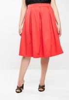 STYLE REPUBLIC PLUS - Fit and flare skirt - red