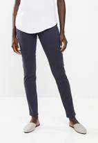 edit - Straight cut twill pants - navy