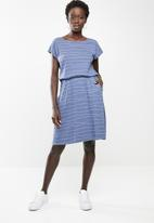 edit - Short sleeve sun dress - blue