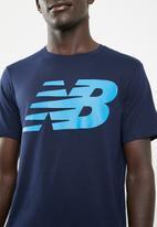New Balance  - Heather tech short sleeve tee - blue