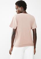 edit - Side tie top - pink